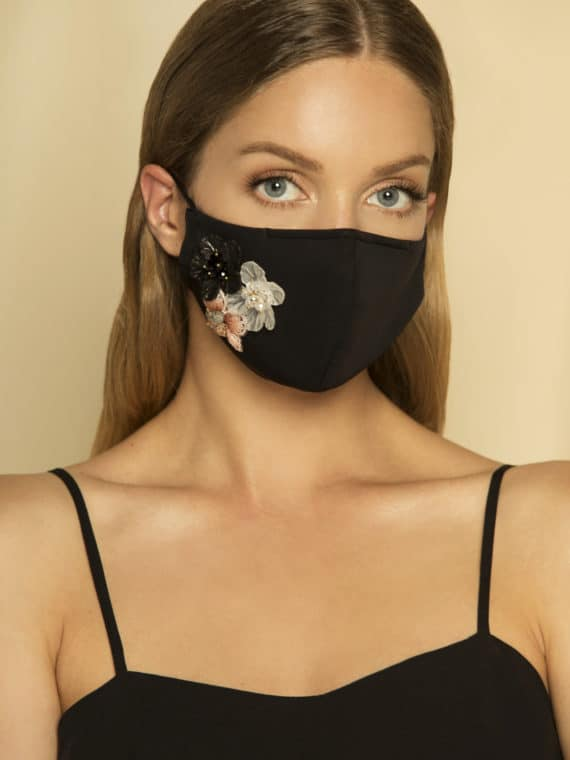 Face Mask Blacks Florals