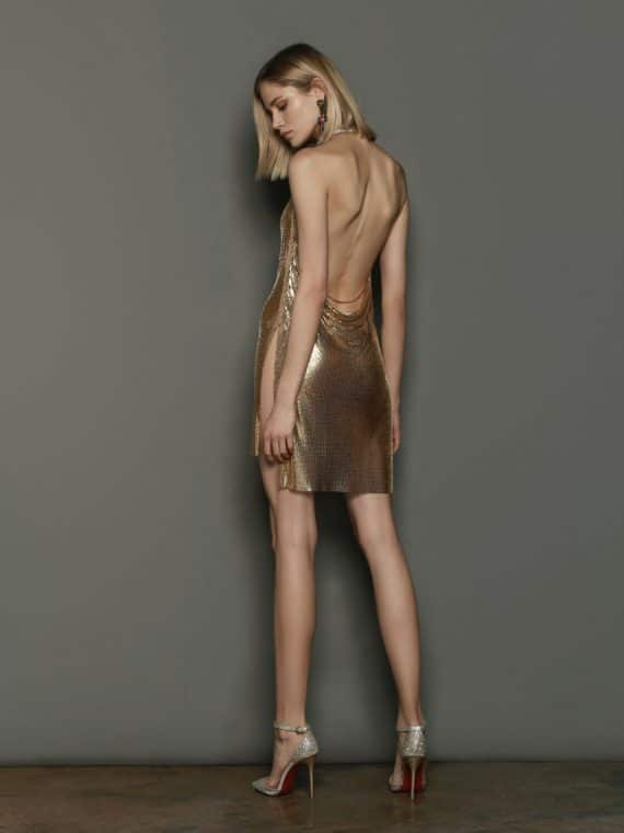 Xenia Gold Dress