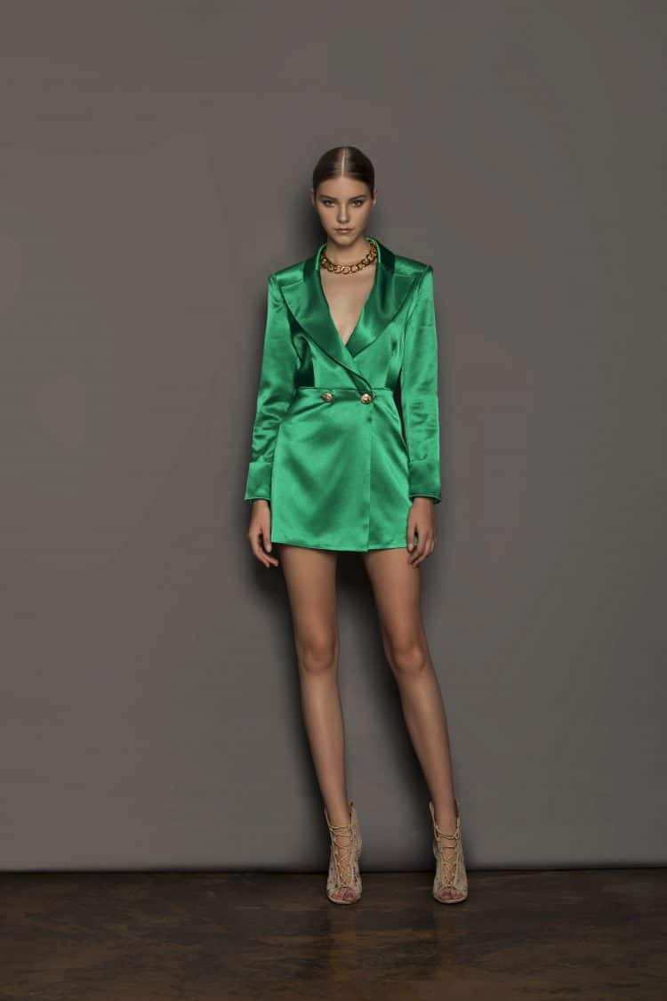 Gigi Green Blazer Resort Dresses