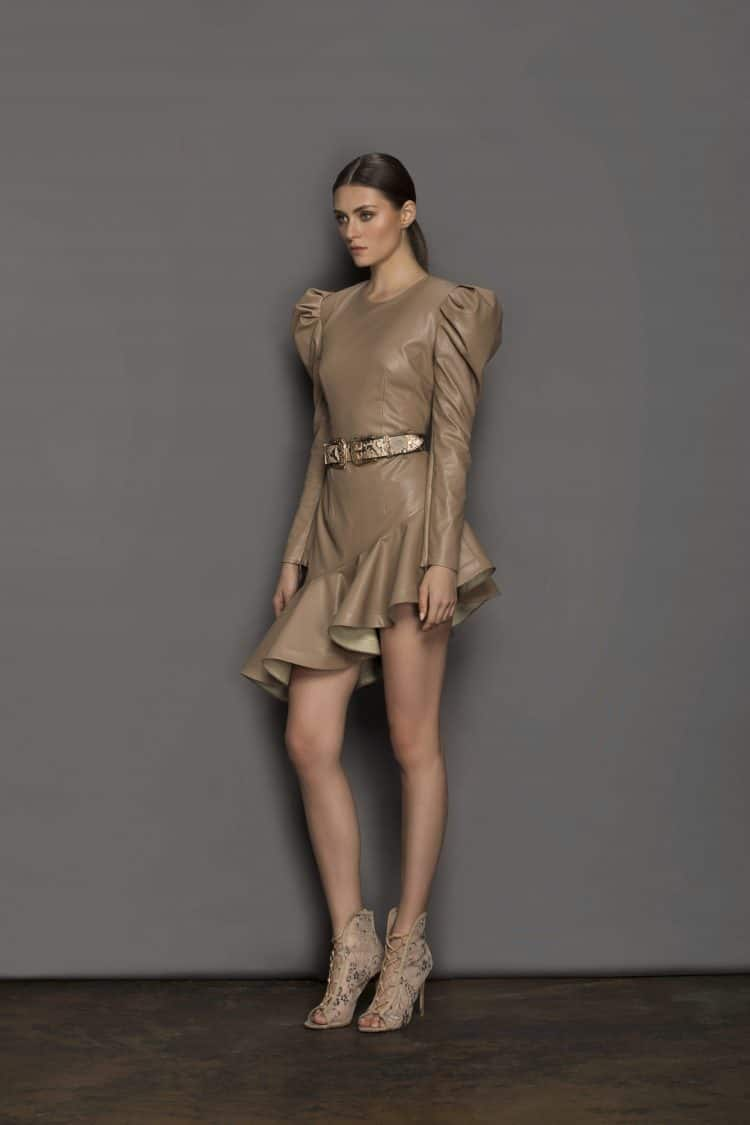 Donatella Mini Dress (Veggan Leather) Resort Dresses