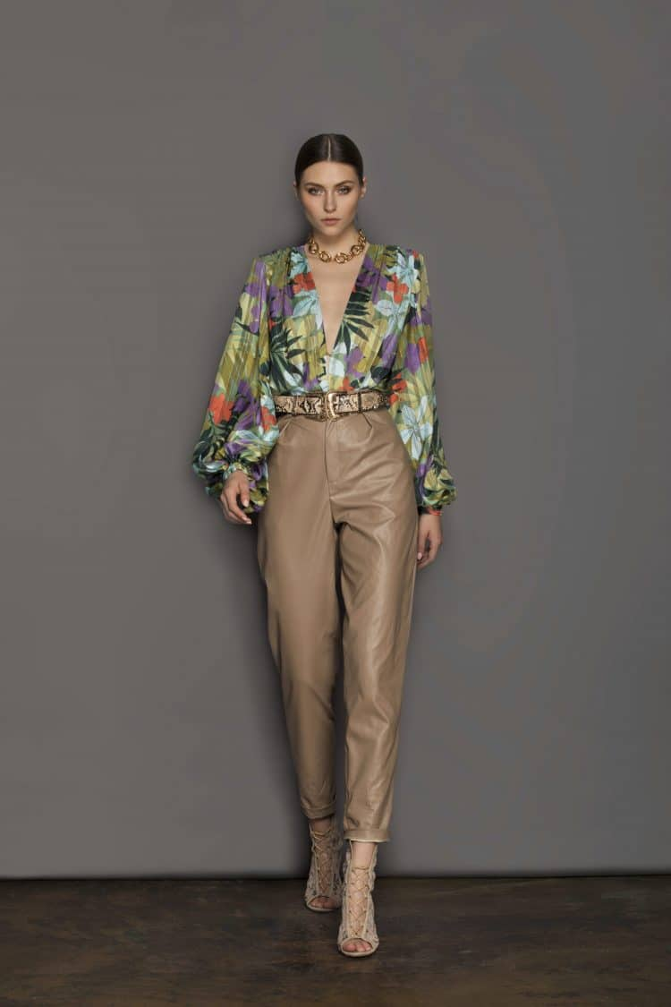 Donatella Coffee Pants (Veggan Leather) Resort Dresses
