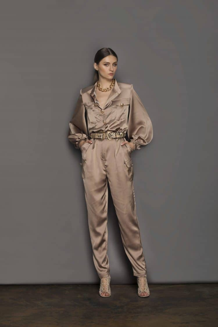Gigi Coffee Jumpsuit Resort Dresses