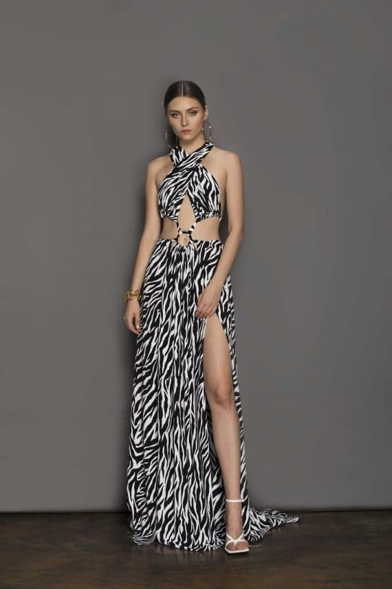 Zebra Maxi Dress Resort Dresses