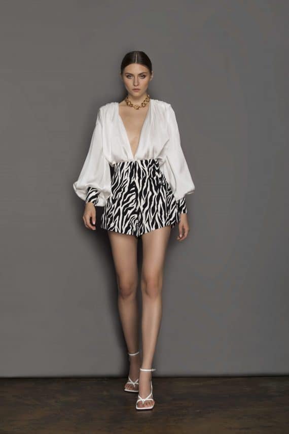 Zebra Shorts Resort Dresses
