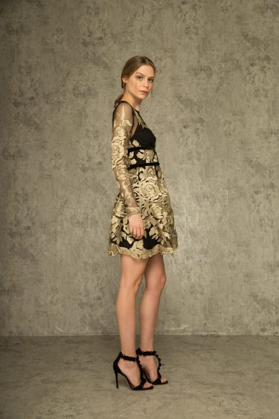 Golden Rose Mini Dress
