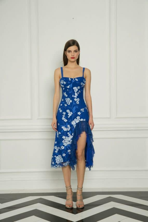 Tiffany Ruffle Cobalt Dress