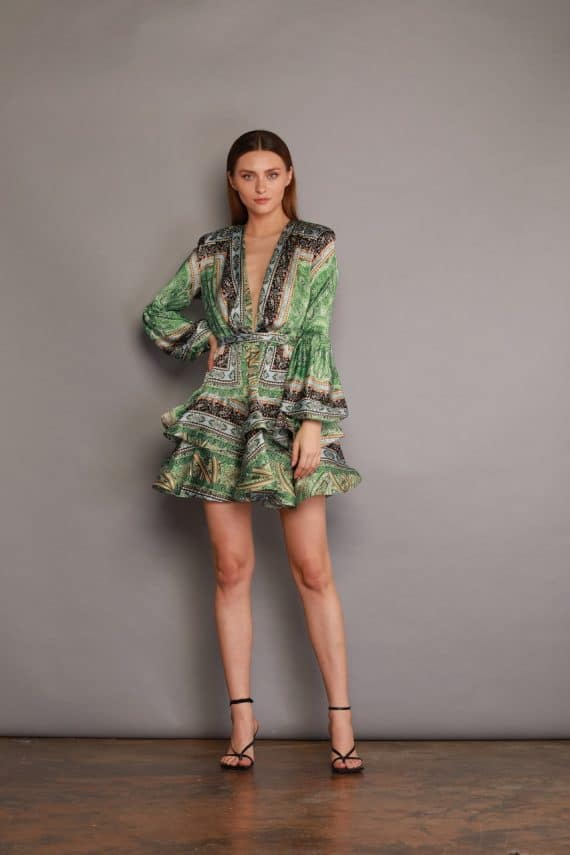 Bedouin Green Mini Dress