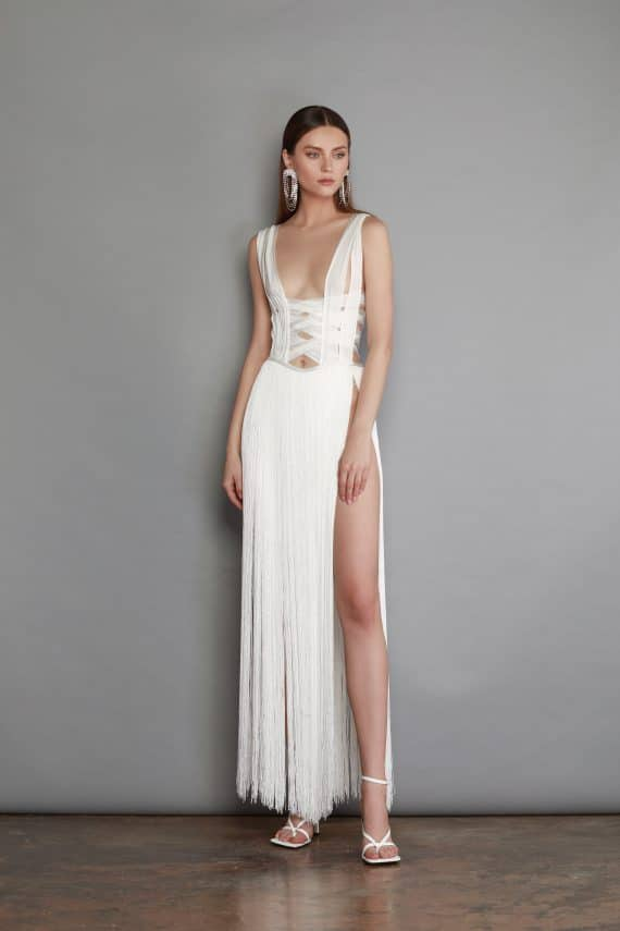Issa Blanc Gown